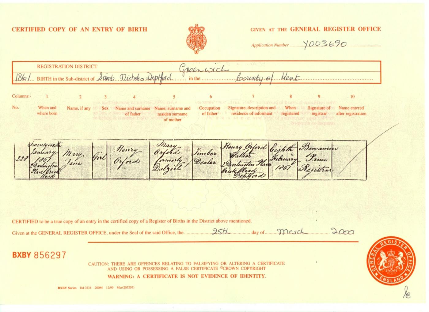 Index of birth certificates b18610121 yadclub Images
