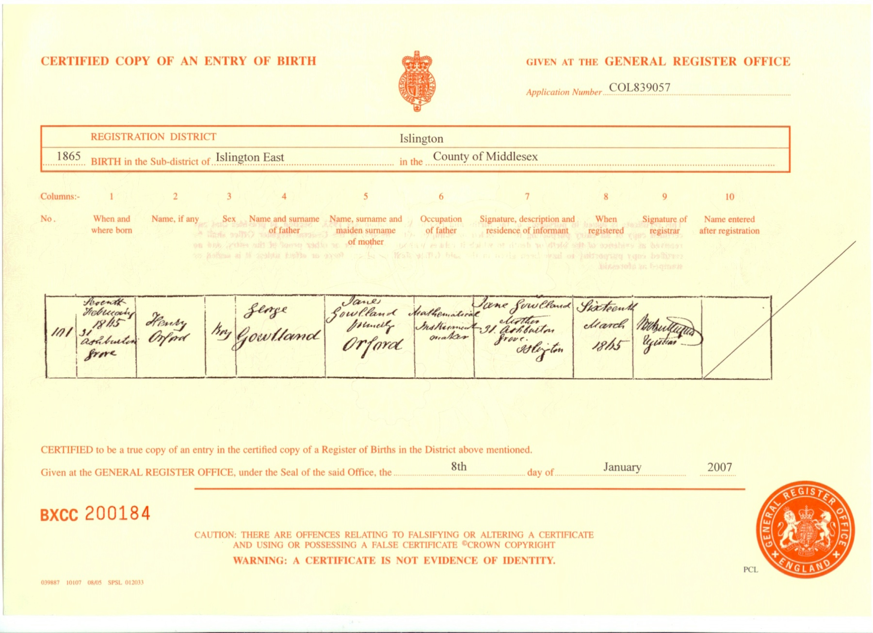 Index of birth certificates b18650207 aiddatafo Images